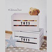 Для дома и интерьера ручной работы. Ярмарка Мастеров - ручная работа Деревянный ящик для игрушек. Handmade.