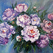 """Картины и панно handmade. Livemaster - original item Oil Painting on canvas """"The magic of peonies"""". Handmade."""
