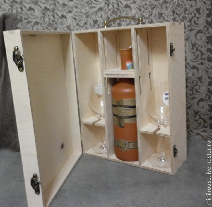 Мини-бар переносной из дерева, Оформление бутылок, Абакан,  Фото №1