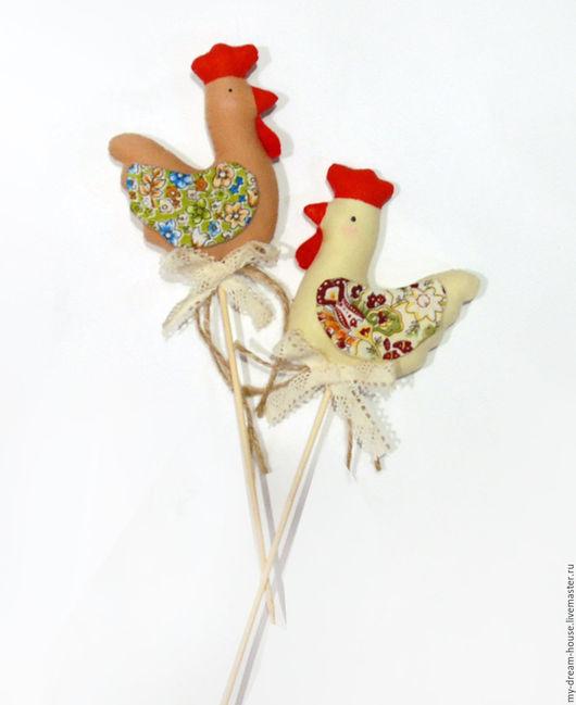 Новый год 2017 ручной работы. Ярмарка Мастеров - ручная работа. Купить Петушки текстильные. Handmade. Бежевый, петух игрушка