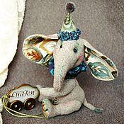Куклы и игрушки ручной работы. Ярмарка Мастеров - ручная работа Слоненок. Handmade.