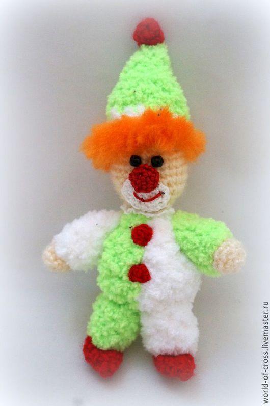 Человечки ручной работы. Ярмарка Мастеров - ручная работа. Купить Весёлый клоун. Handmade. Комбинированный, цирк, вязаный клоун