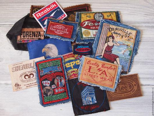 Шитье ручной работы. Ярмарка Мастеров - ручная работа. Купить Бирки и лейблы винтажные для рукоделия. Handmade. Комбинированный, джинсовые лейблы