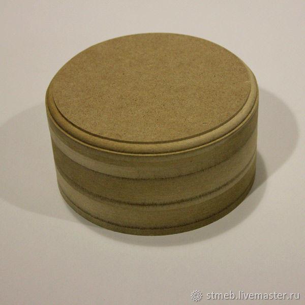 Шкатулка круглая К1515В2 (15х15х8 см) для декупажа