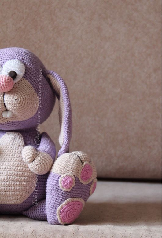 Игрушки животные, ручной работы. Ярмарка Мастеров - ручная работа. Купить Кролик Проша. Handmade. Заяц игрушка, лаванда