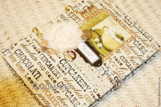 """Кулинарные книги ручной работы. Ярмарка Мастеров - ручная работа. Купить Кулинарная книга """"Кофейные фантазии"""". Handmade. Белый, блокноты"""