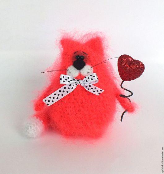 Игрушки животные, ручной работы. Ярмарка Мастеров - ручная работа. Купить Кот Валентин (Вязаный кот, игрушка, подарок). Handmade.
