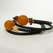 Украшения handmade. Livemaster - original item Amber bracelet on a string Br-212. Handmade.