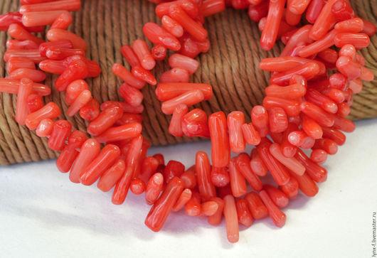 Для украшений ручной работы. Ярмарка Мастеров - ручная работа. Купить Коралл иголки коралловый, 10шт. Handmade. Коралл, бусины