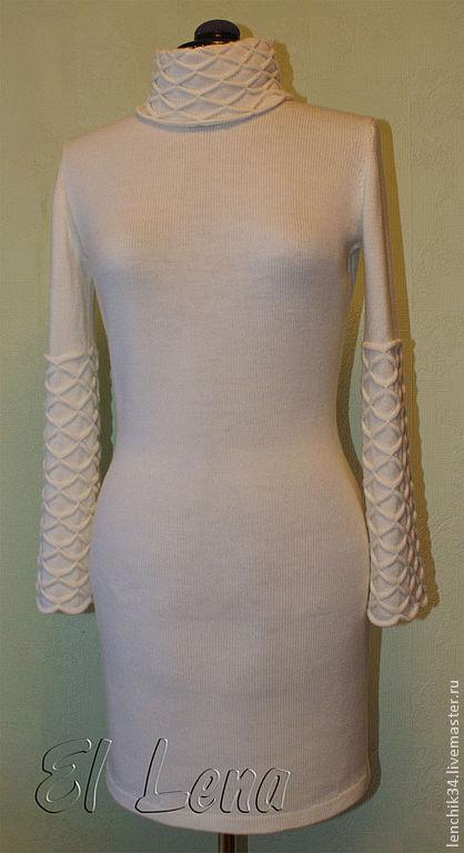 платье  с буфами-вафельками