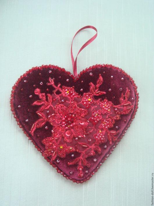 Подарки для влюбленных ручной работы. Ярмарка Мастеров - ручная работа. Купить Интерьерные декоративные подвески. Handmade. Ярко-красный, подвеска