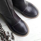 High Boots handmade. Livemaster - original item boots: Boots Chocolate. Handmade.