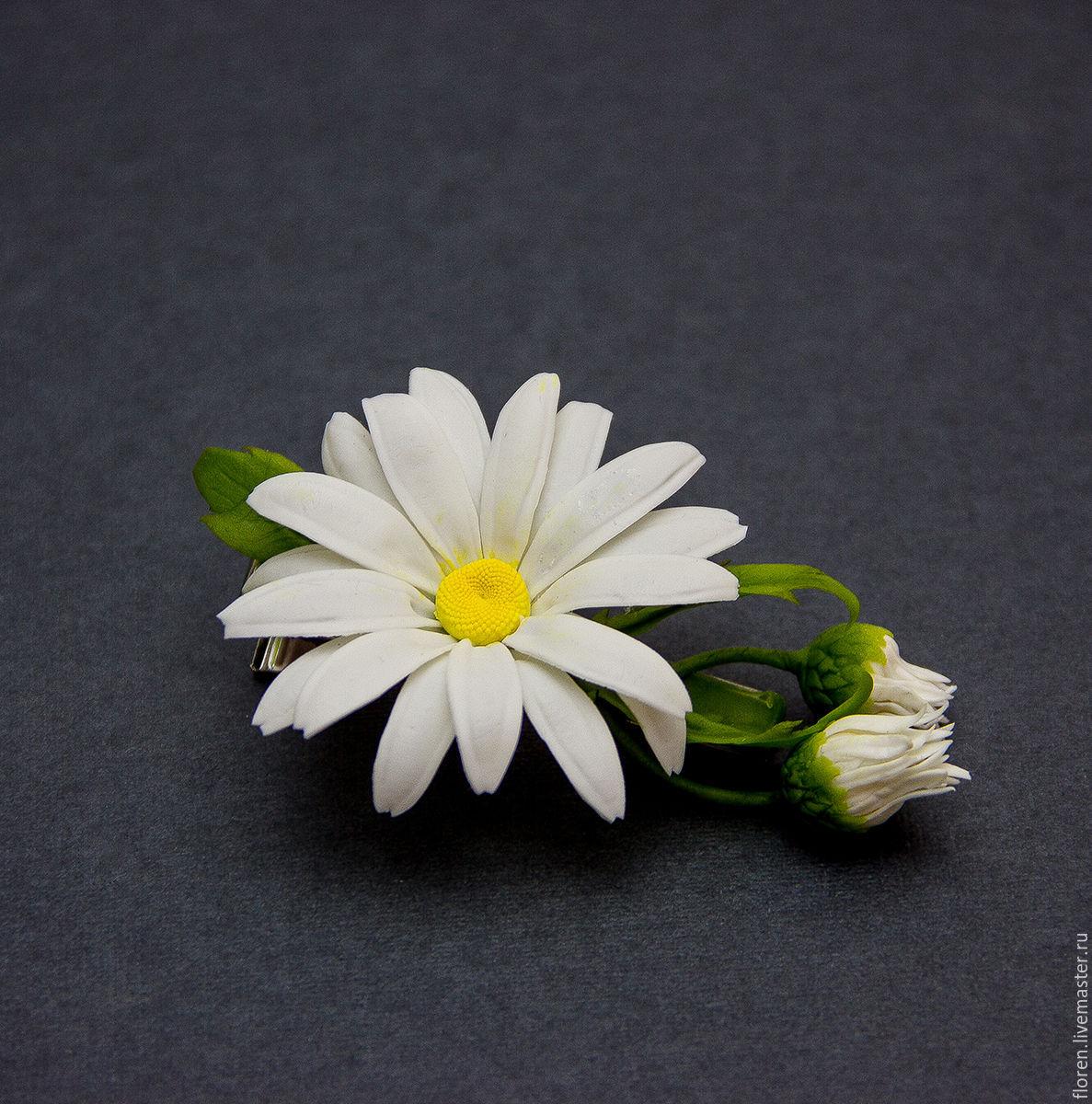 Chamomile Flower Hair White Hair Clip Bridal Hair Accessory
