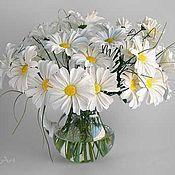 Цветы и флористика ручной работы. Ярмарка Мастеров - ручная работа Букет ромашек. Handmade.