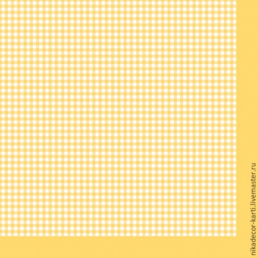 Декупаж и роспись ручной работы. Ярмарка Мастеров - ручная работа. Купить Мелкая клетка на желтом (SLOG022110) - салфетка для декупажа. Handmade.