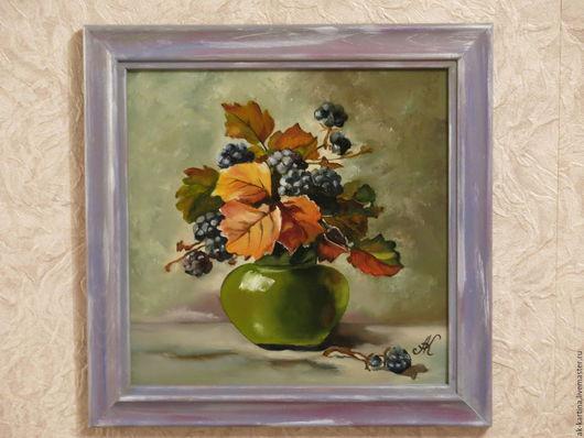 """Картины цветов ручной работы. Ярмарка Мастеров - ручная работа. Купить """"Плодовый квартет"""" 4 картины маслом на холсте.. Handmade."""