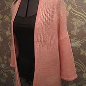 Одежда ручной работы. Ярмарка Мастеров - ручная работа Кардиган нежно розовый  соты. Handmade.