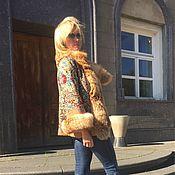 """Одежда ручной работы. Ярмарка Мастеров - ручная работа Куртка """"Русские узоры"""" с рыжей лисой. Handmade."""