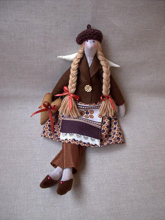 Куклы Тильды ручной работы. Ярмарка Мастеров - ручная работа. Купить Тильда ангел Шоколадница. Handmade. Тильда, тильда ангел