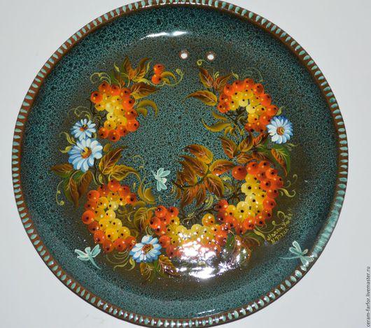 Декоративная посуда ручной работы. Ярмарка Мастеров - ручная работа. Купить рябина. Handmade. Тёмно-бирюзовый, подарок, посуда из глины