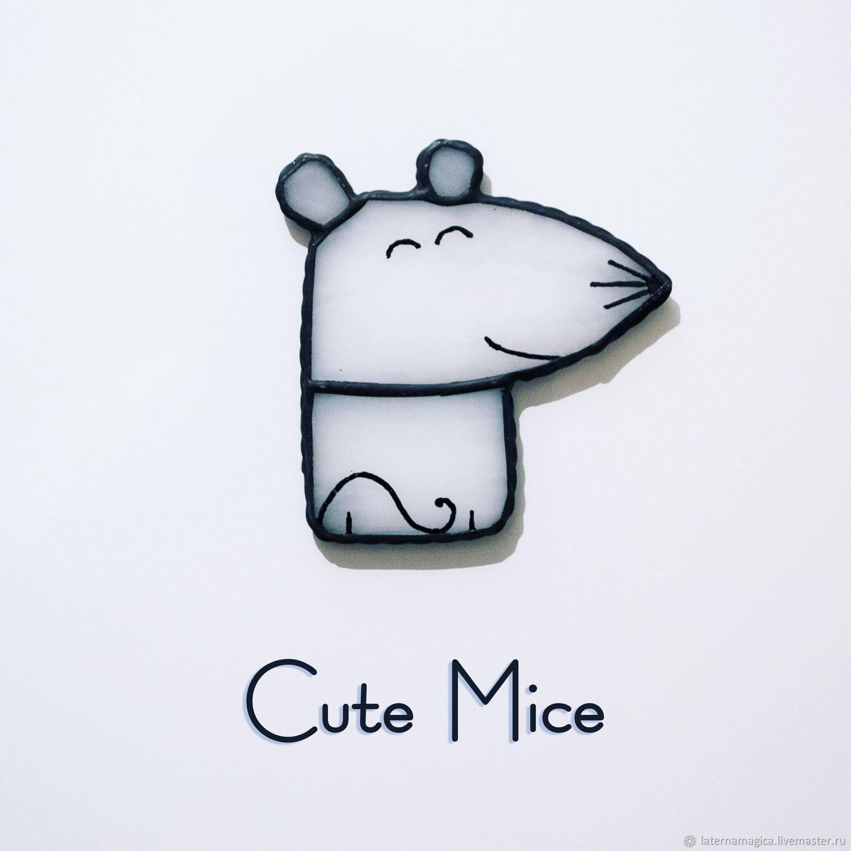Магниты на холодильник из стекла Милые Мышата Cute Mice #002, Магниты, Новосибирск,  Фото №1