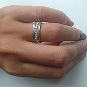 Украшения handmade. Livemaster - original item gold ring with diamonds.. Handmade.