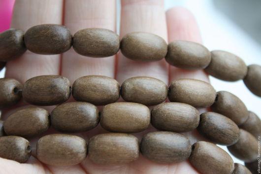 Для украшений ручной работы. Ярмарка Мастеров - ручная работа. Купить Серое дерево, овальные бусины, 15 мм. Handmade.