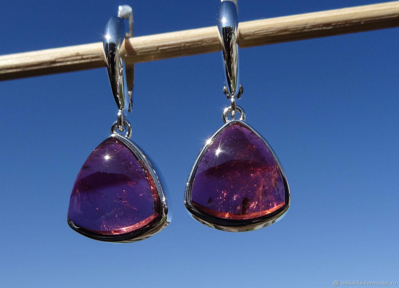 Crystal Serenity..  tourmaline natural!, Earrings, Irkutsk,  Фото №1