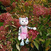 Куклы и игрушки ручной работы. Ярмарка Мастеров - ручная работа Серая кошка. Кошка в платье.. Handmade.