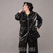 Одежда handmade. Livemaster - original item Parka made of black raincoat