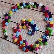 Фурнитура для шитья ручной работы. Ярмарка Мастеров - ручная работа Пуговки 5мм цветочки. Handmade.