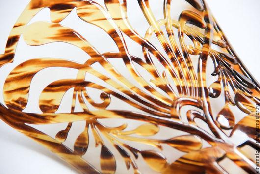 Винтажные украшения. Ярмарка Мастеров - ручная работа. Купить Пейнета гребень винтаж. Handmade. Коричневый, для волос