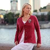 Одежда handmade. Livemaster - original item blouse color of cranberries with brooch. Handmade.