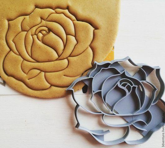 Кухня ручной работы. Ярмарка Мастеров - ручная работа. Купить Форма для печенья Роза. Handmade. Разноцветный, формочка для печенья