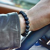 Украшения handmade. Livemaster - original item Stylish men`s bracelet made of natural stones. Handmade.