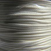 Шнуры ручной работы. Ярмарка Мастеров - ручная работа Вощеный шнур 1 mm, белый, для украшений. Handmade.