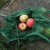 """Авоська ручной работы. Ярмарка Мастеров - ручная работа Авоська """"Яблоки сезонные лесные"""" , 100% хлопок. Handmade."""