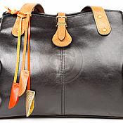 """Сумки и аксессуары handmade. Livemaster - original item Женская кожаная сумка """"Энни"""" черная. Handmade."""