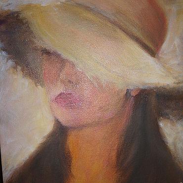 Картины и панно ручной работы. Ярмарка Мастеров - ручная работа Девушка в шляпе. Handmade.