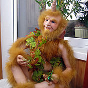 Куклы и игрушки ручной работы. Ярмарка Мастеров - ручная работа Кукла Рыжий Леший (Шурале). Handmade.