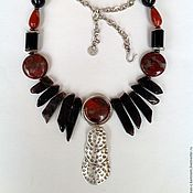 Украшения handmade. Livemaster - original item Necklace ethnic beads made from natural stones Black continent.. Handmade.