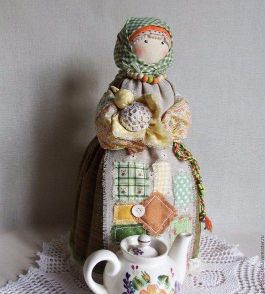 Быт ручной работы. Ярмарка Мастеров - ручная работа. Купить Птица-Радость. Кукла на чайник. Handmade. Зеленый, подарок для дома