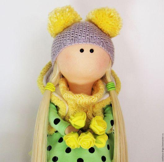 Коллекционные куклы ручной работы. Ярмарка Мастеров - ручная работа. Купить Куколка Сима. Handmade. Желтый, подарок на любой случай
