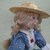 Куклы и игрушки handmade. Livemaster - original item The girl in blue dress. Handmade.