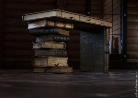 Мебель ручной работы. Ярмарка Мастеров - ручная работа. Купить Книжный стол и стул. Handmade. Рыжий, массив лиственницы