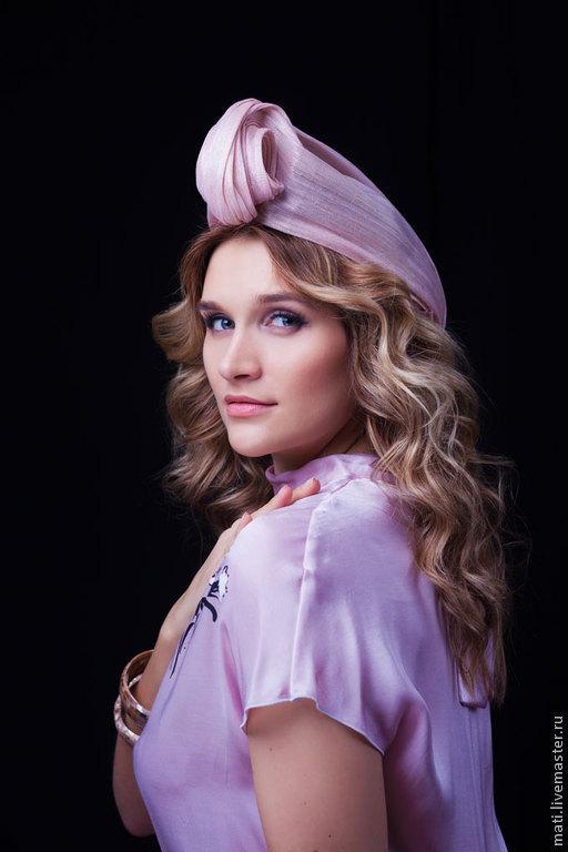 """Шляпы ручной работы. Ярмарка Мастеров - ручная работа. Купить Чалма """"Бутон"""". Handmade. Бледно-розовый, лето, отдых на море"""