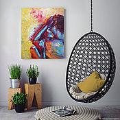 Картины и панно handmade. Livemaster - original item Bright couple, oil painting on canvas, love, lovers, couple. Handmade.