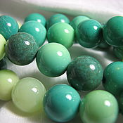 Материалы для творчества handmade. Livemaster - original item Smooth chrysoprase bead ball 10 mm ball. Handmade.