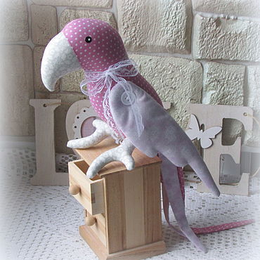 Куклы и игрушки ручной работы. Ярмарка Мастеров - ручная работа Попугай текстильный в стиле Тильда. Handmade.