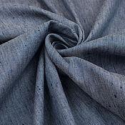 Материалы для творчества ручной работы. Ярмарка Мастеров - ручная работа Итальянская джинсовая ткань  ARMANI JEANS темно-голубая меланж. Handmade.
